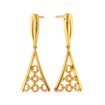 Woven in Net Gold Earrings