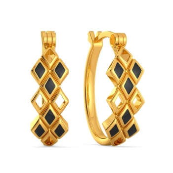 Trenched Out Gold Earrings