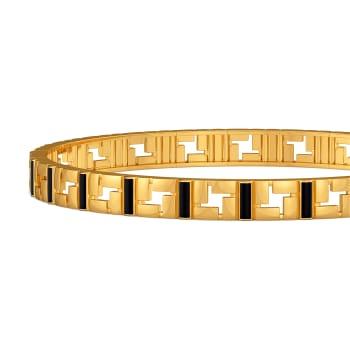 Matrix Fashion Gold Bangles