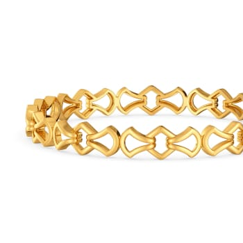 Urbane Finesse Gold Bangles