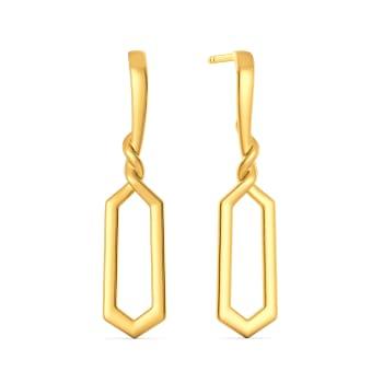 Prim Trim Gold Earrings