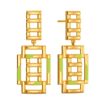 Neon Play  Gold Earrings