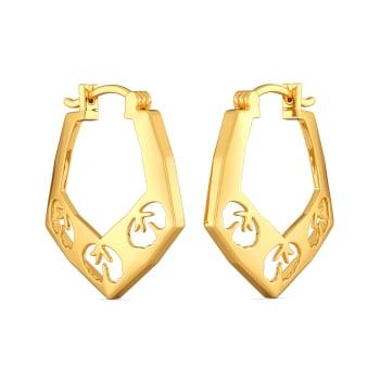 Scarf Summer Gold Earrings