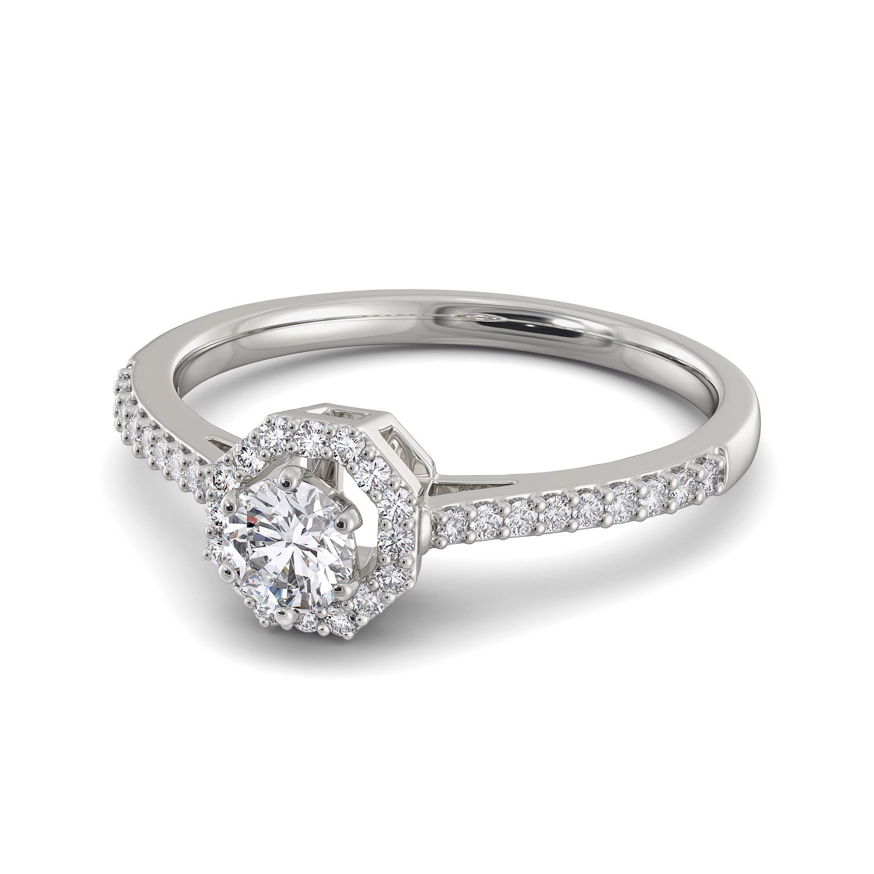 Buy Sparkle Suave Diamond Rings @ Melorra.com