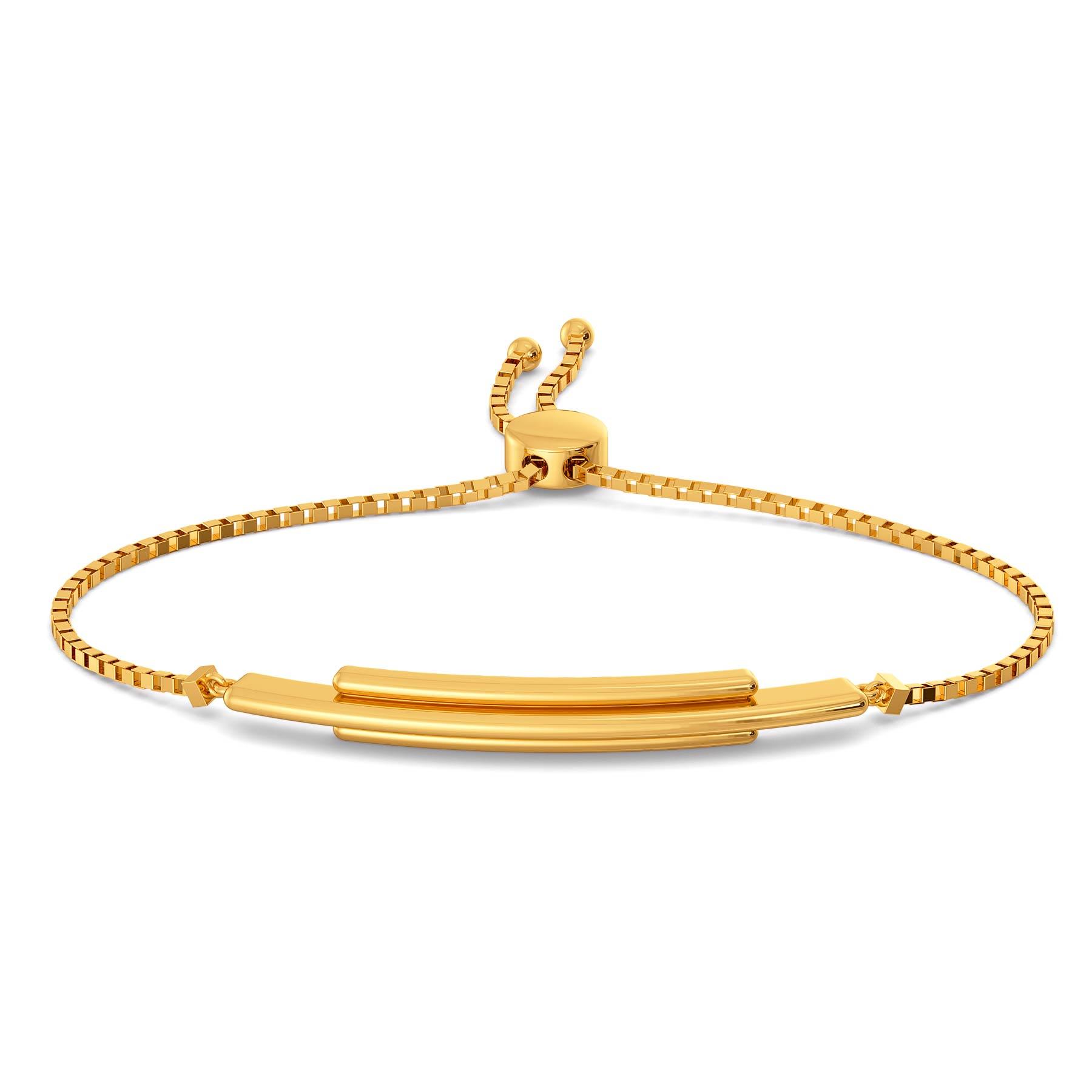 Streaks of gold bracelet