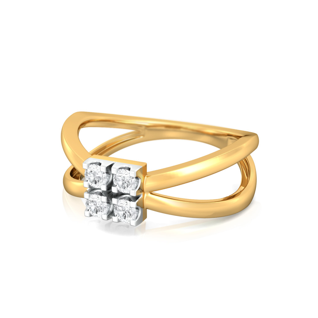 Cool Wedding Rings.Buy Criss Cross Cool Diamond Rings Melorra Com
