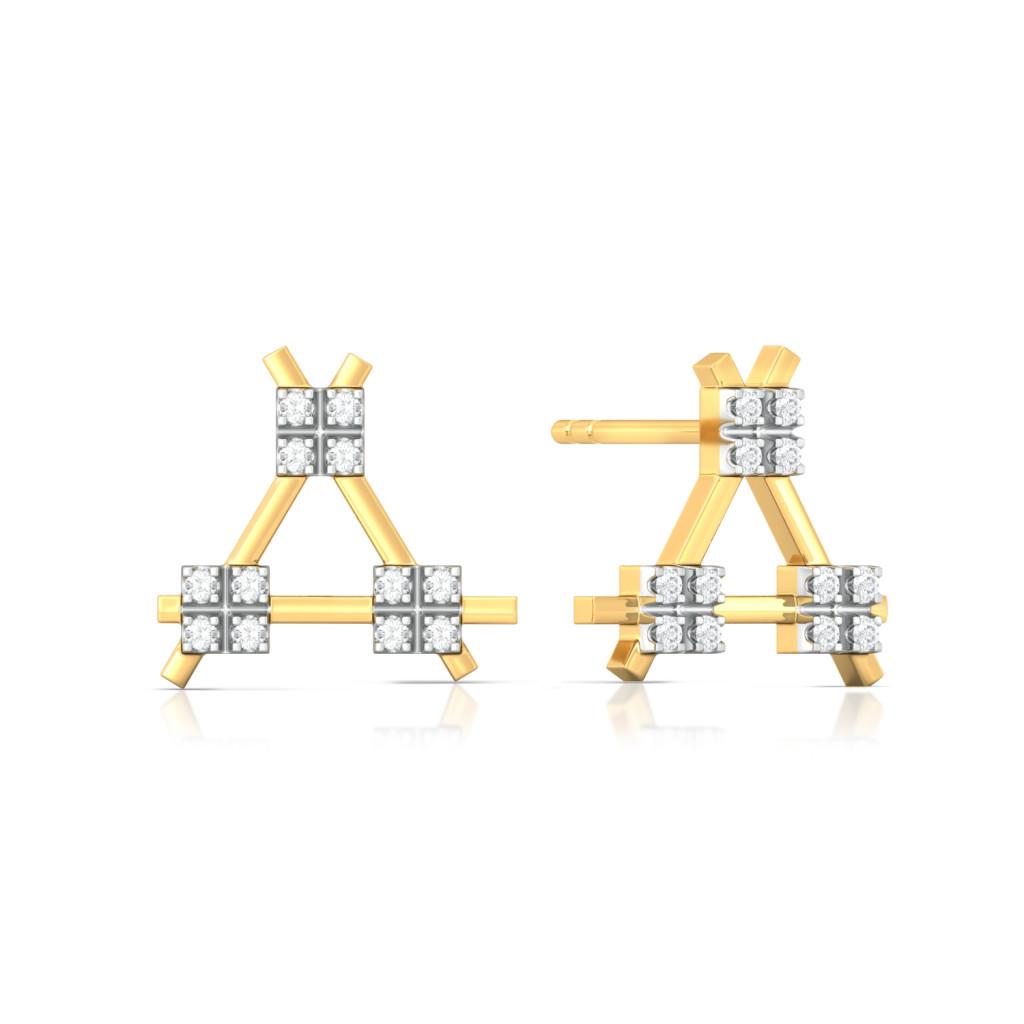 Buy Criss Cross Cool Diamond Earrings Melorra Com