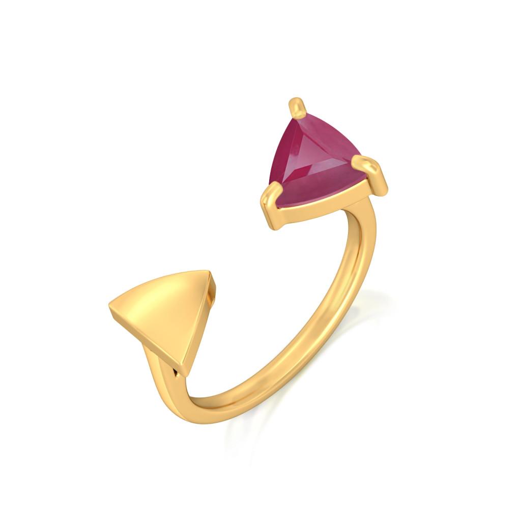 Dandy Burgundy Gemstone Rings
