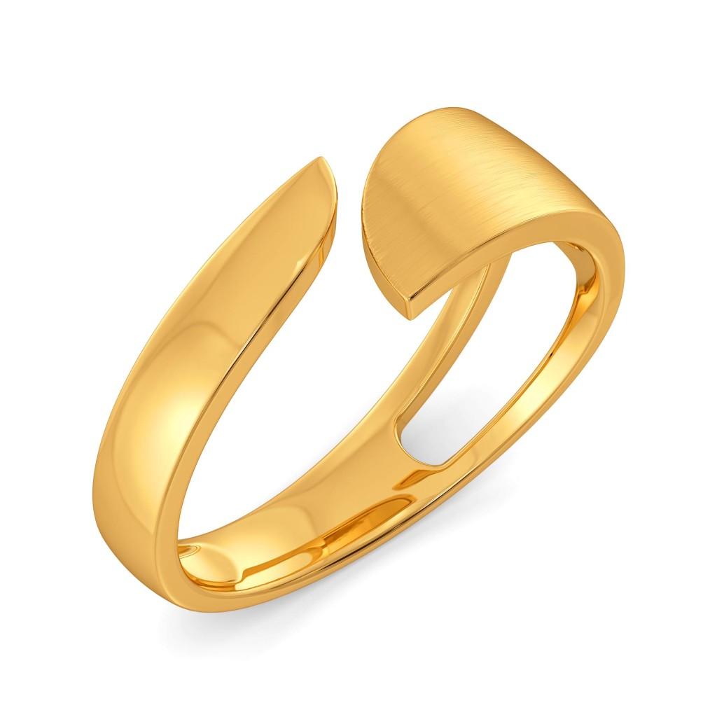 Polished Picks Gold Rings