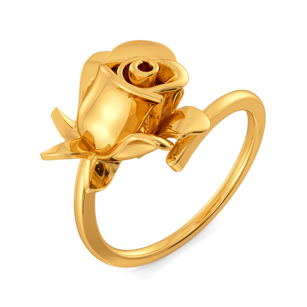 Fierce Blossoms Gold Rings