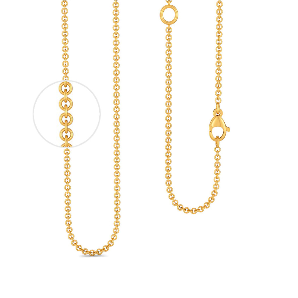 18kt Yellow Gold Cable Chain Gold Chains