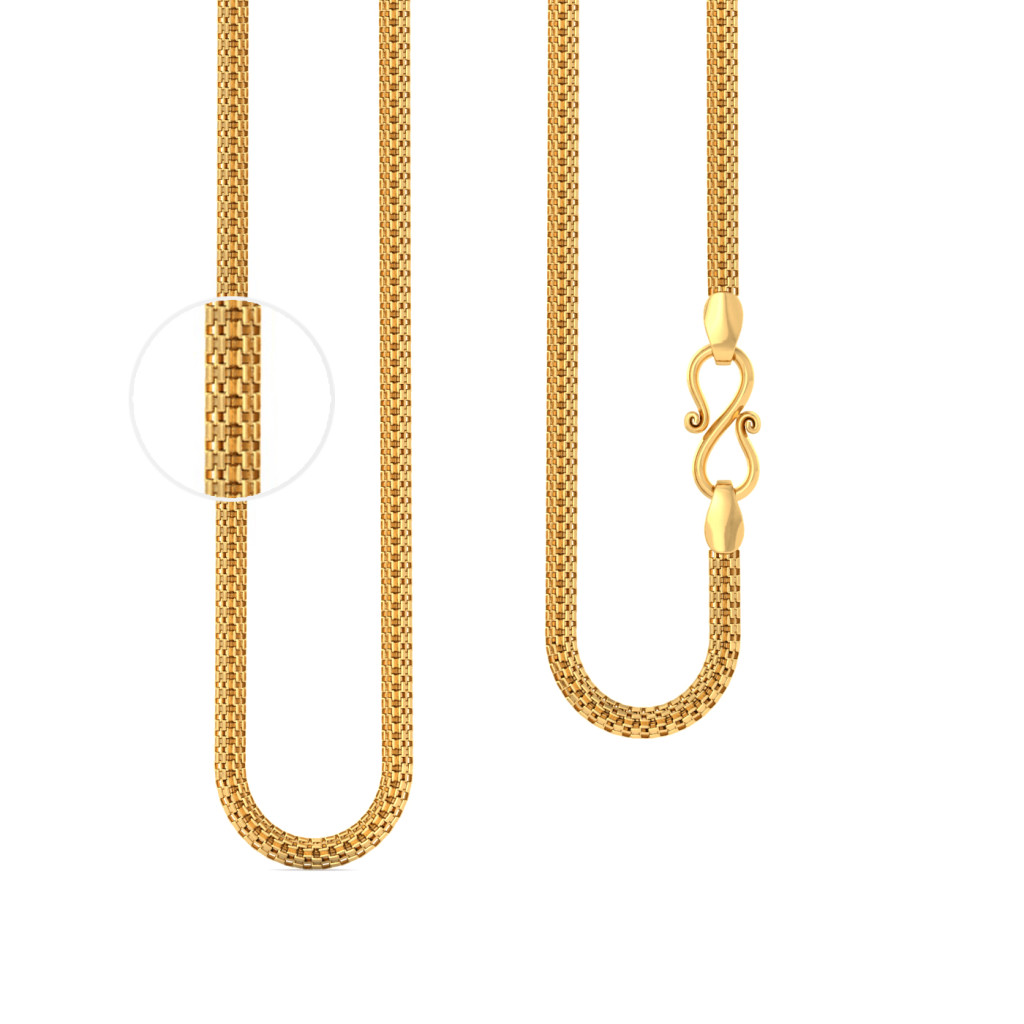 22kt rhombus cross section box chain Gold Chains