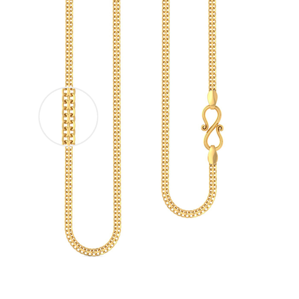 22kt flat double row linked chain Gold Chains