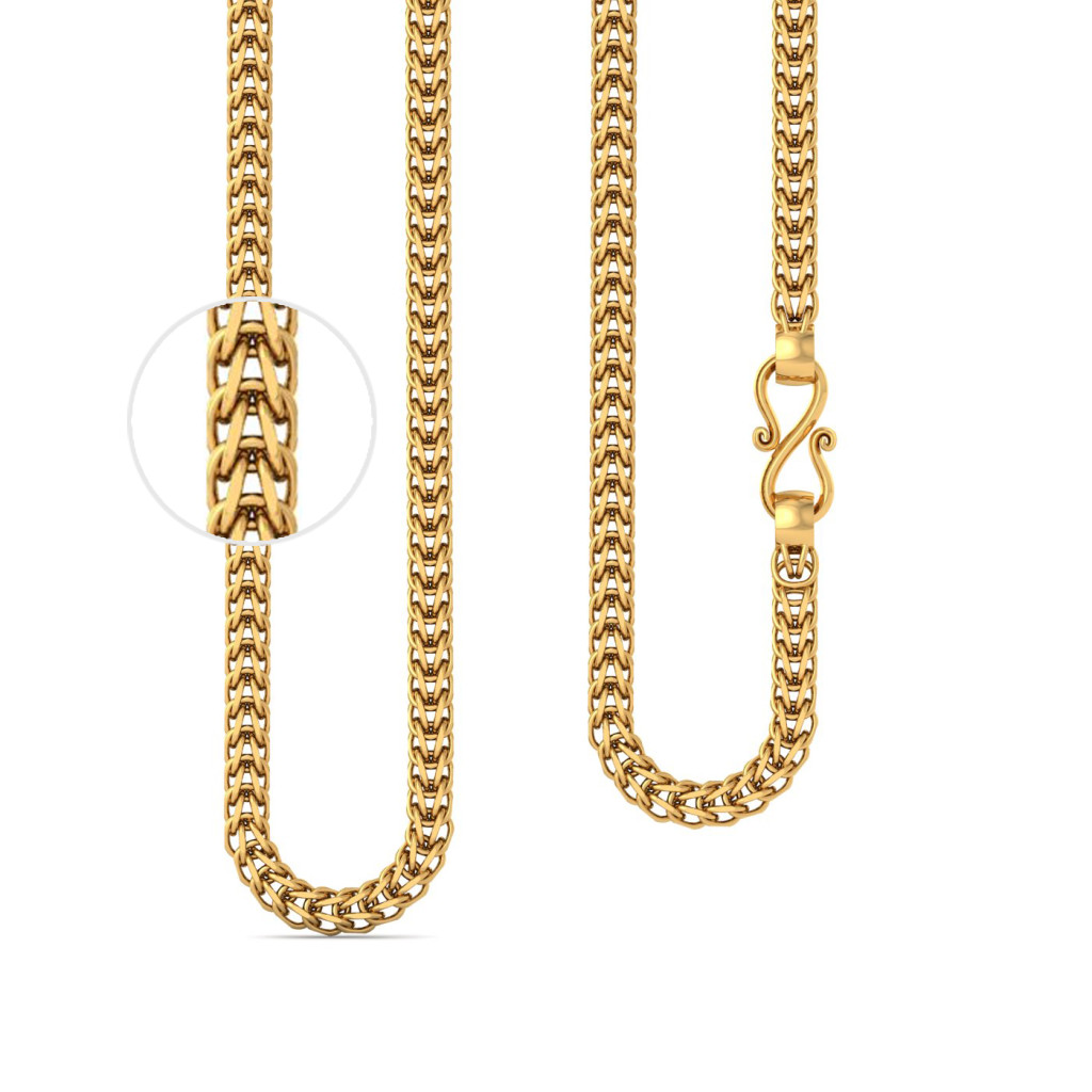 22kt Foxtail Link Gold Chain Gold Chains