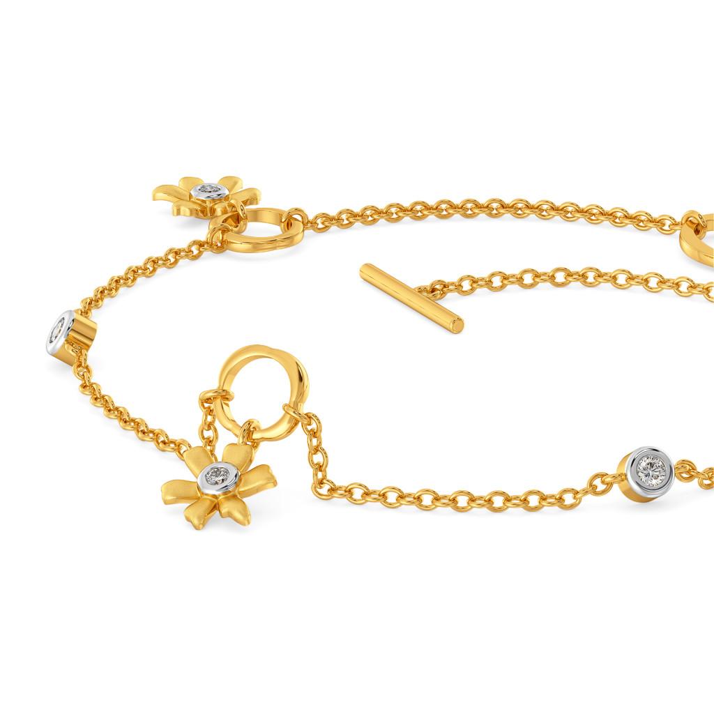 Golden Daffodil Diamond Bracelets