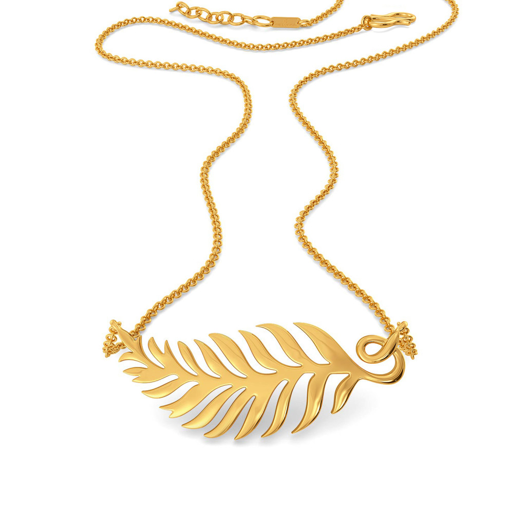 Turn of Ferns Gold Necklaces
