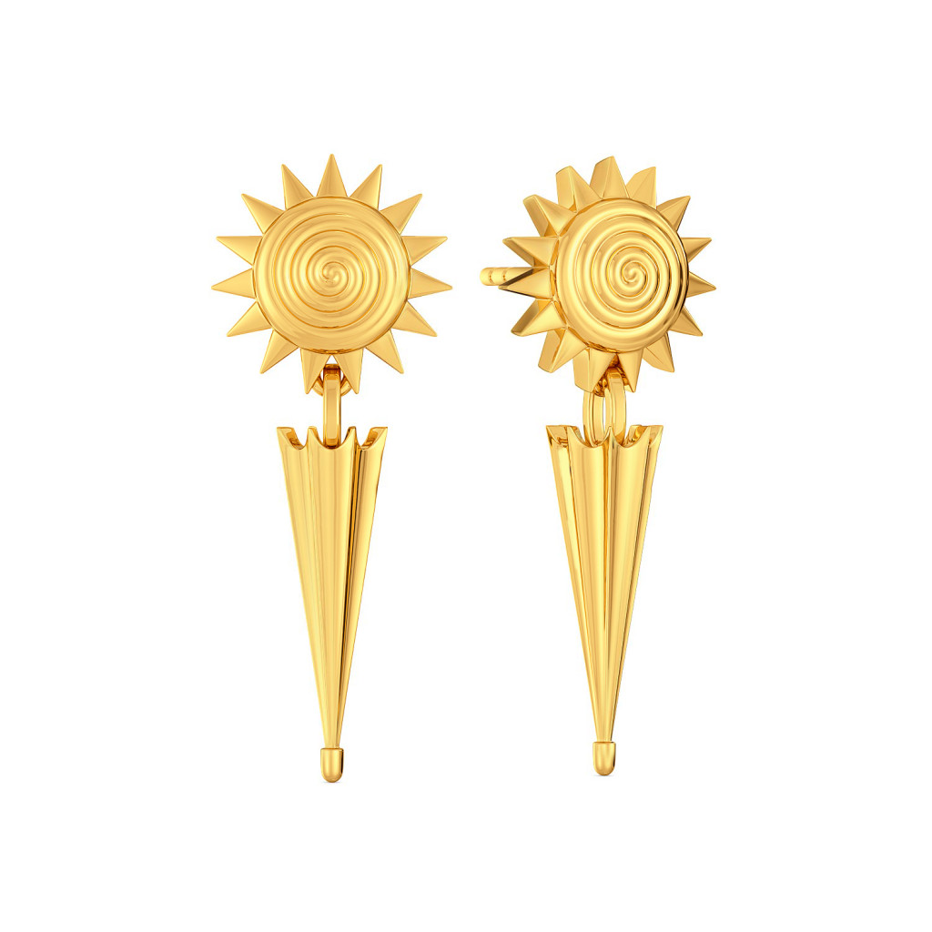 Sun N Spick Gold Earrings
