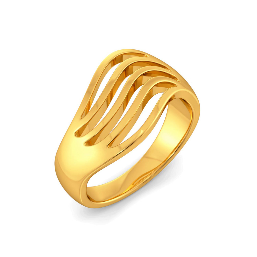 Tide and Stride Gold Rings