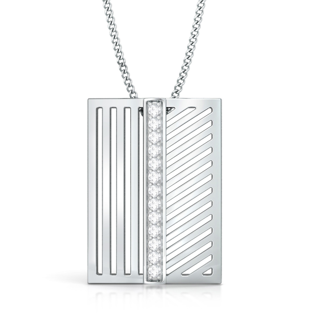 Stripey Affair Diamond Pendants