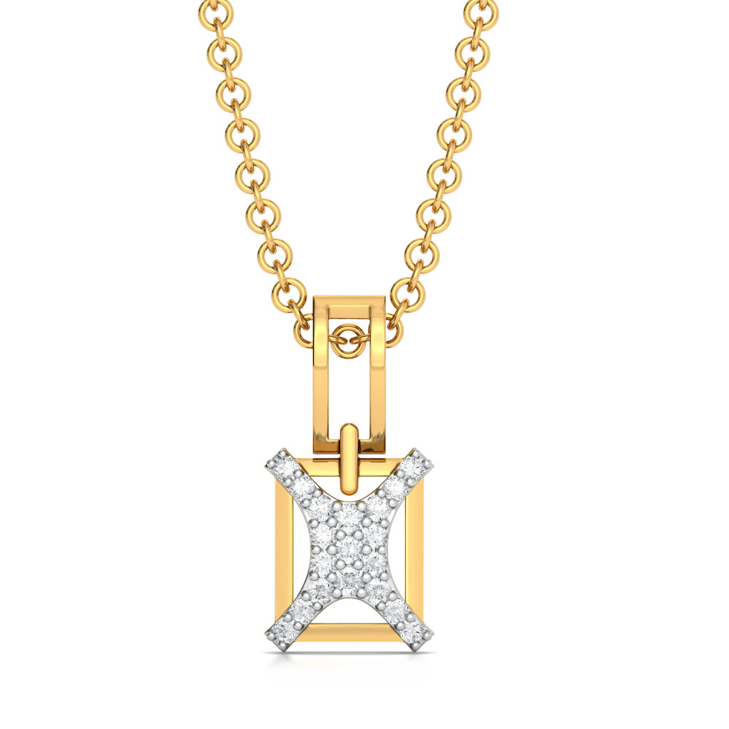 Curvy Cross Diamond Pendants