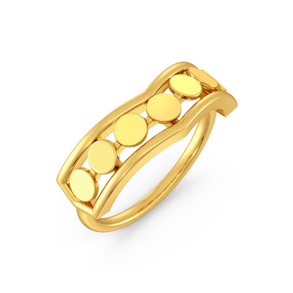 Disco Drama Gold Rings