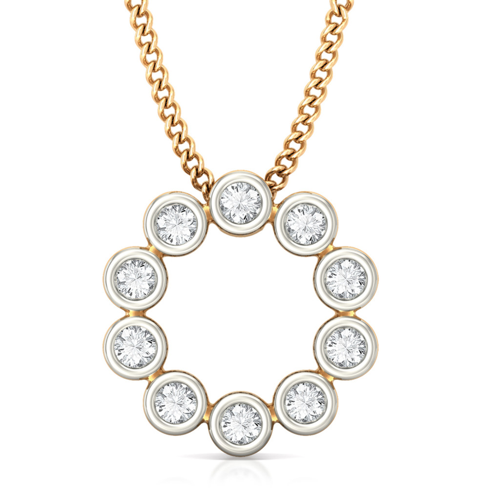 Endless Loop Diamond Pendants