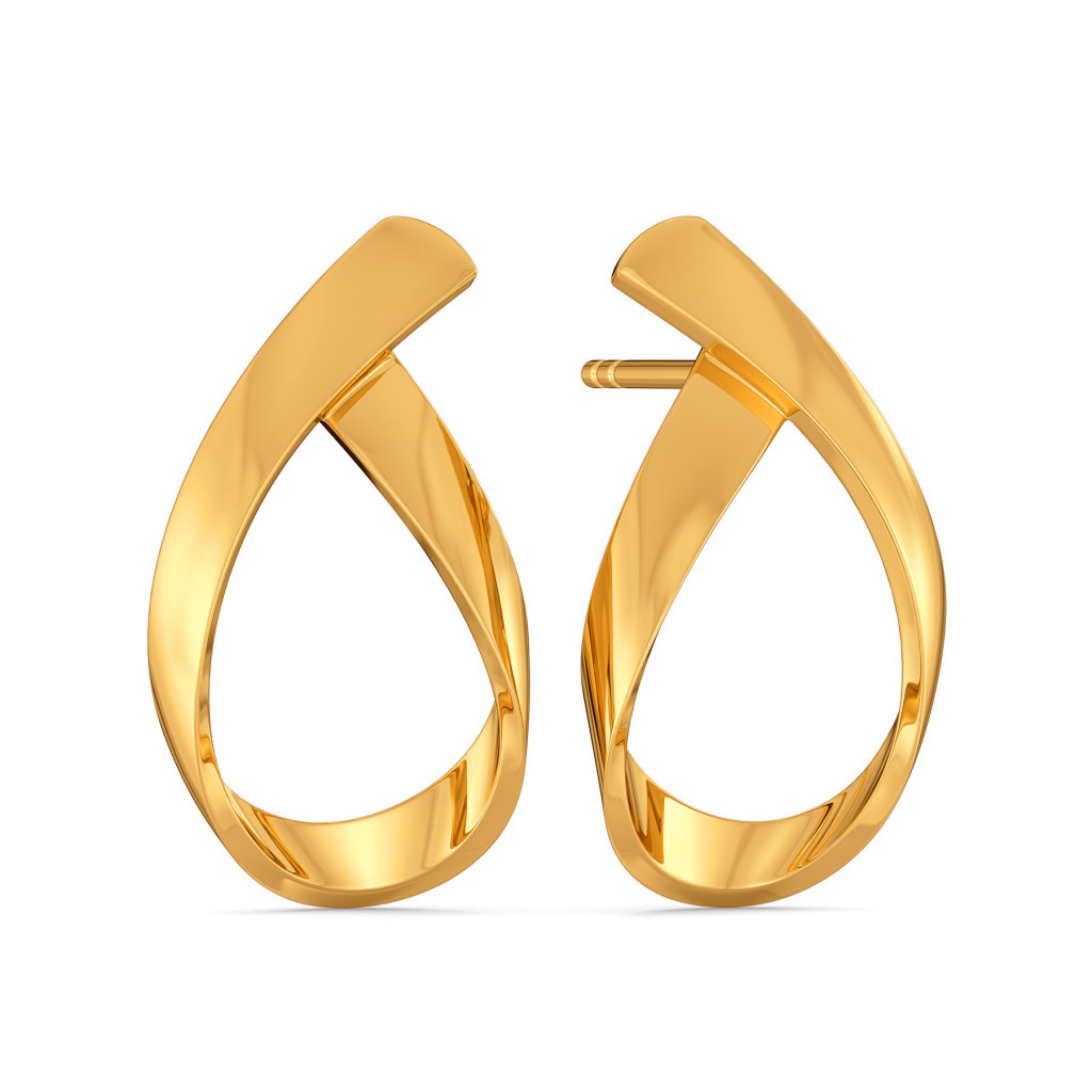 Swirl Suave Gold Earrings