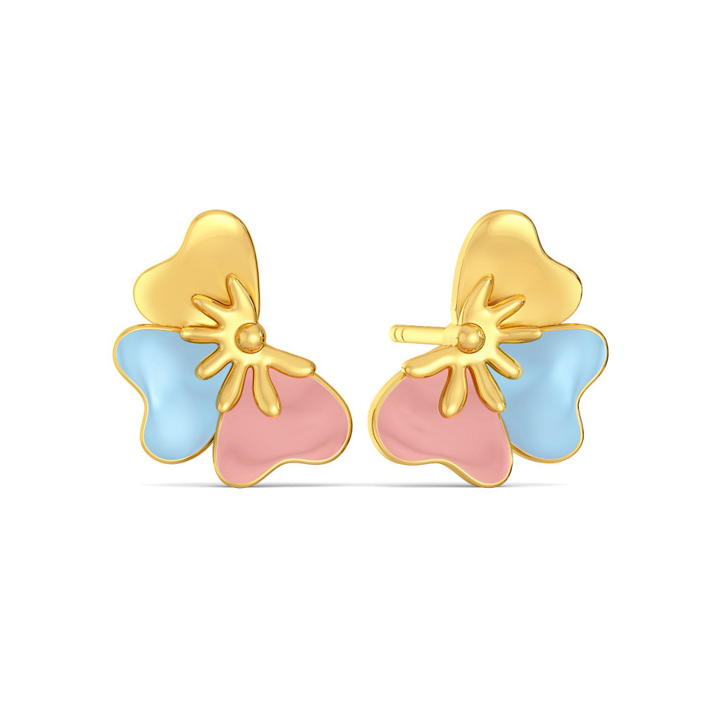 Fleur n Finesse Gold Earrings