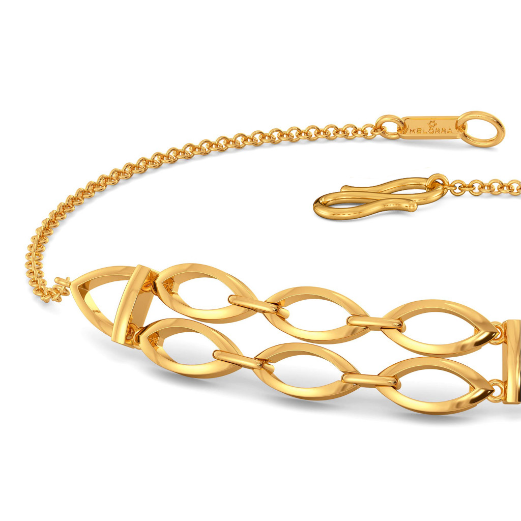 Nets in Mesh Gold Bracelets