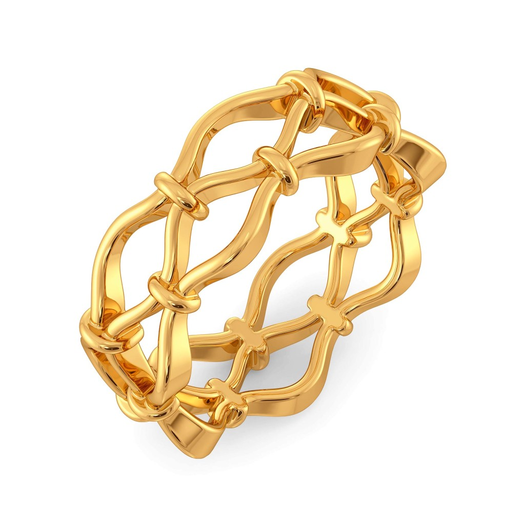 Nets Gone Hip Gold Rings