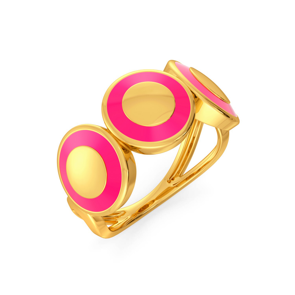 Pink A Wink Gold Rings