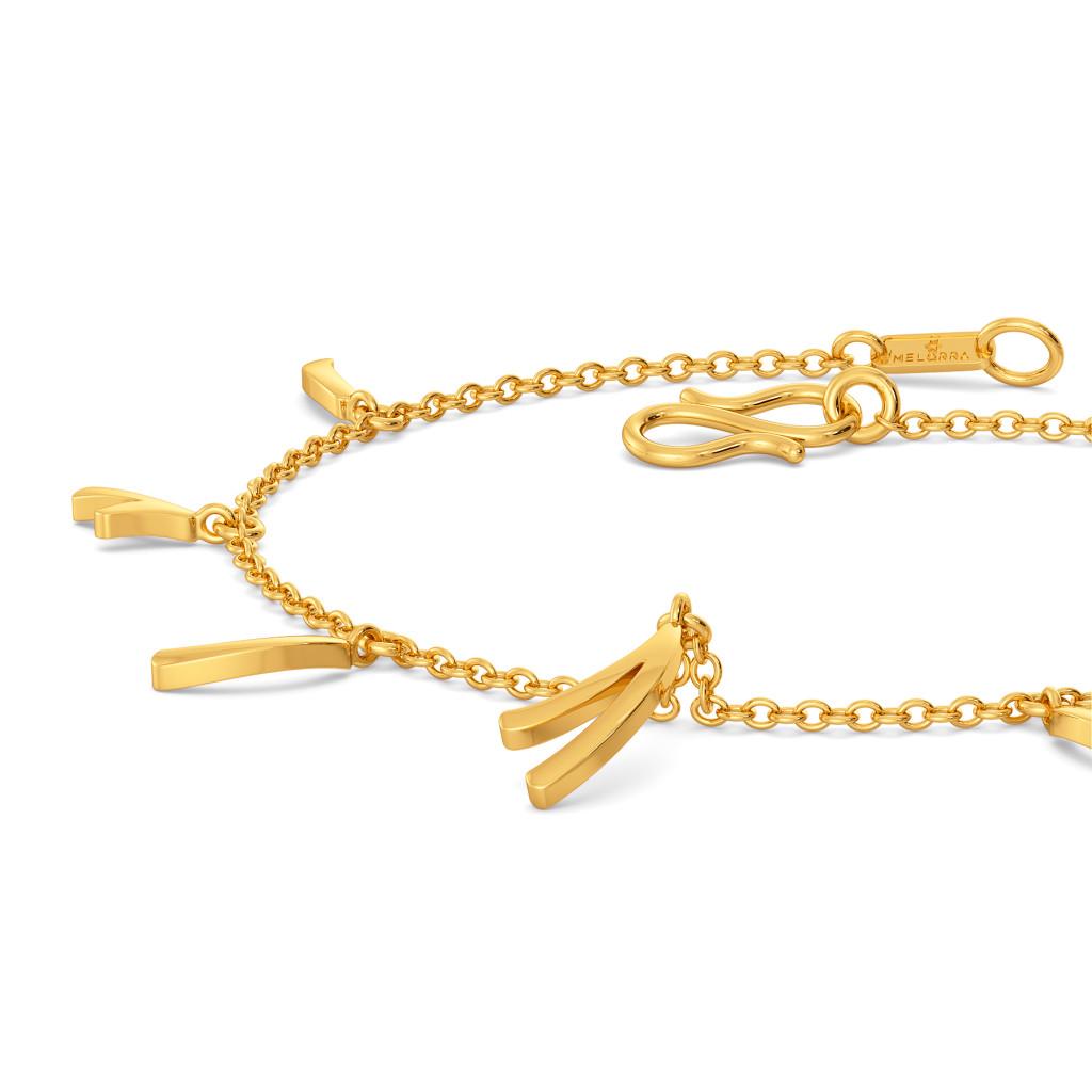 Tassel Dazzle Gold Bracelets