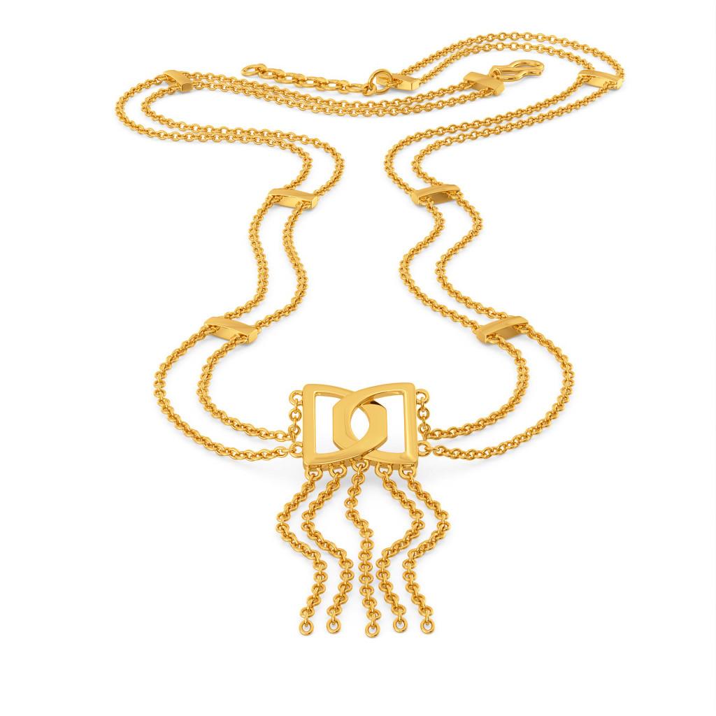 Fringe Frolic Gold Necklaces