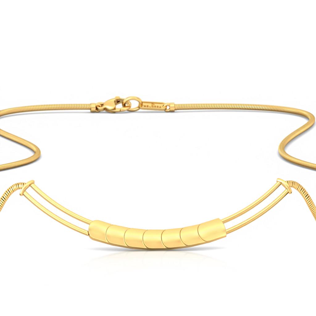 Fringe Finesse Gold Necklaces