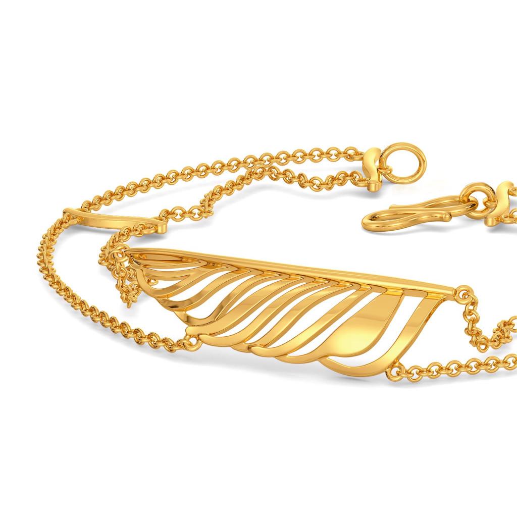 Funky Feathers Gold Bracelets