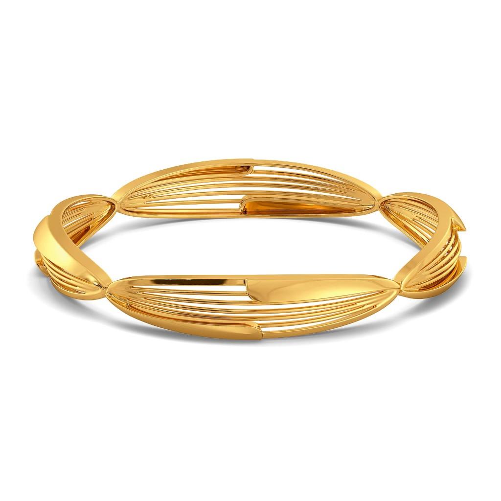 Floral Dew Gold Bangles