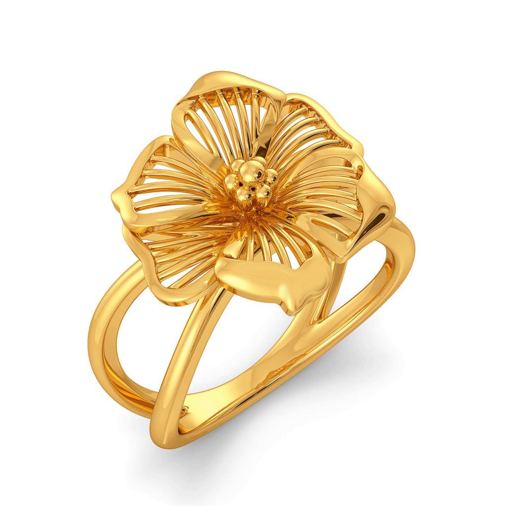 Flower Afar Gold Rings