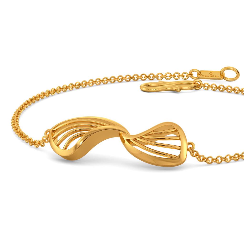 Pair A Petal Gold Bracelets