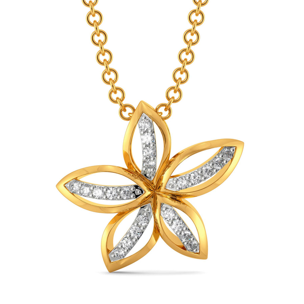 Happy Go Lily Diamond Pendants