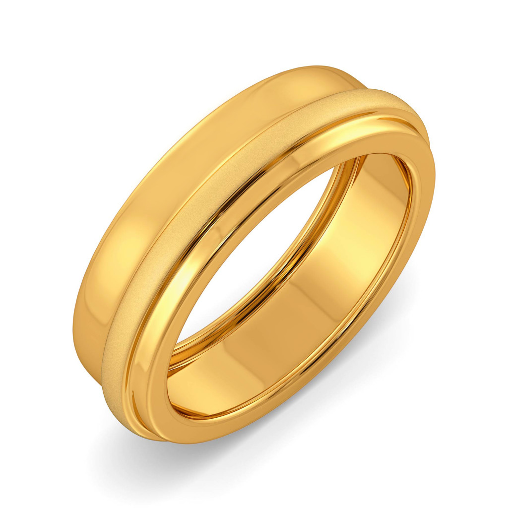 Subtly Suave Gold Rings