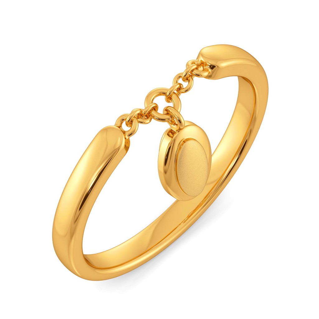 Modestly Mod Gold Rings