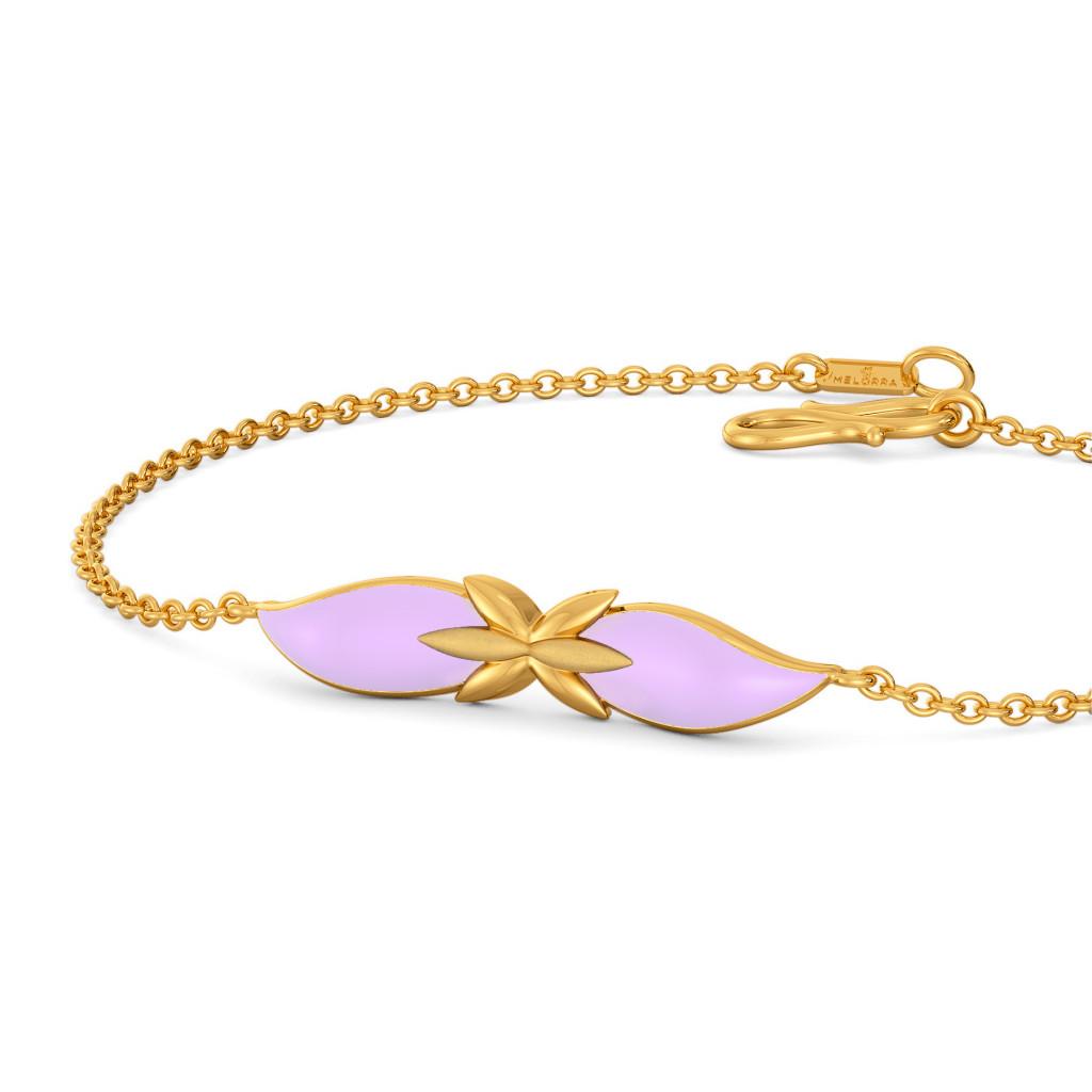 Lavender Out Loud Gold Bracelets