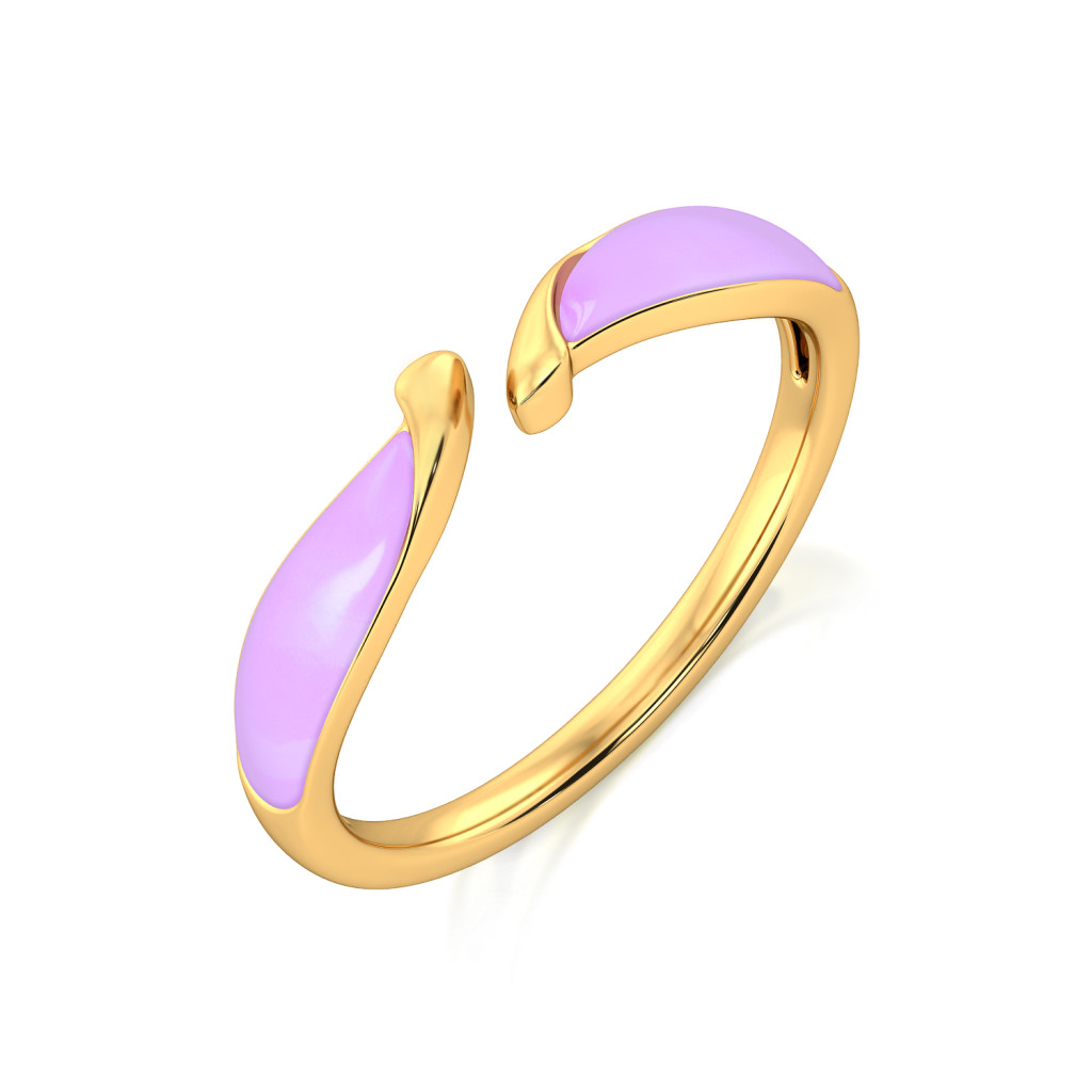Lilac Takeover Gold Rings