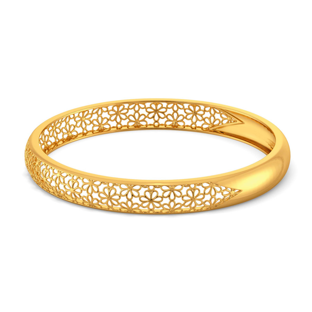 Slice of Lace Gold Bangles