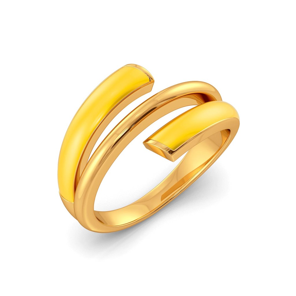Yellow Tangelo Gold Rings