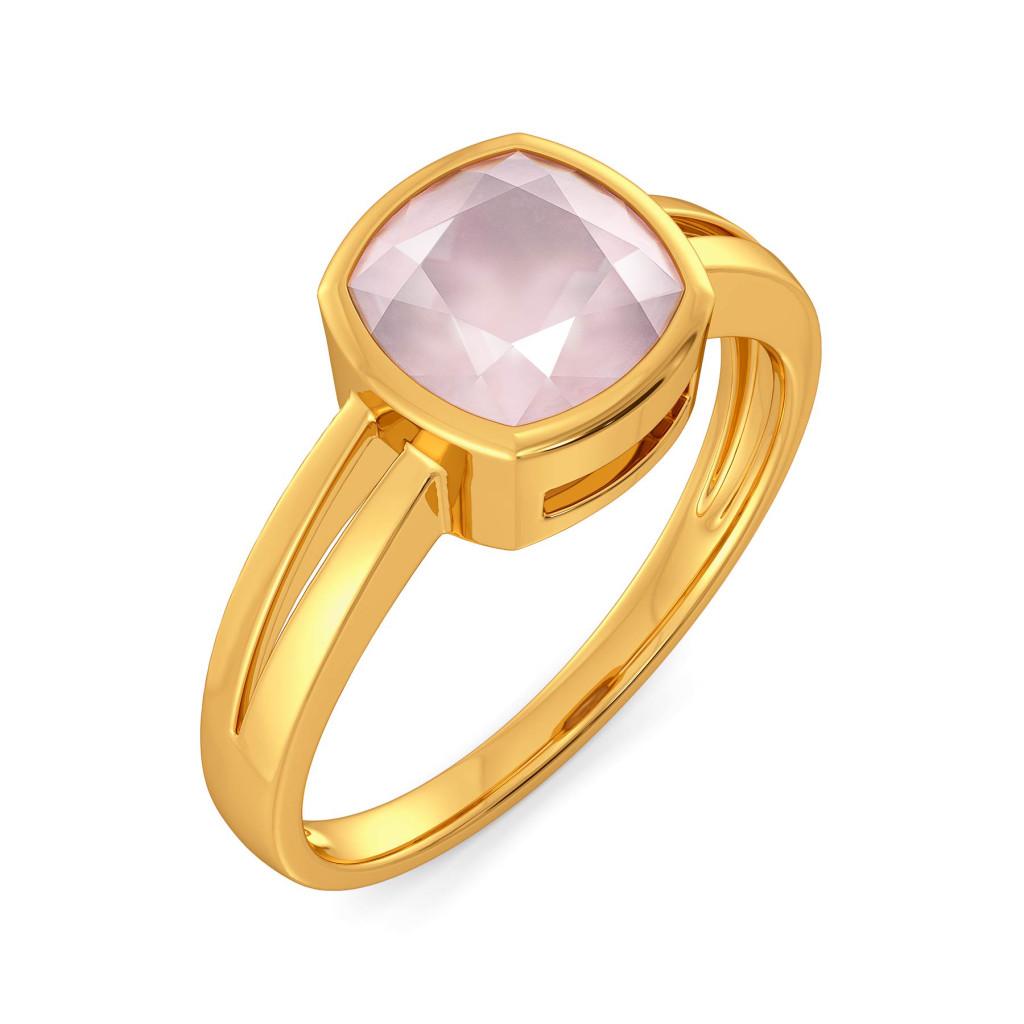 Blush On Gemstone Rings