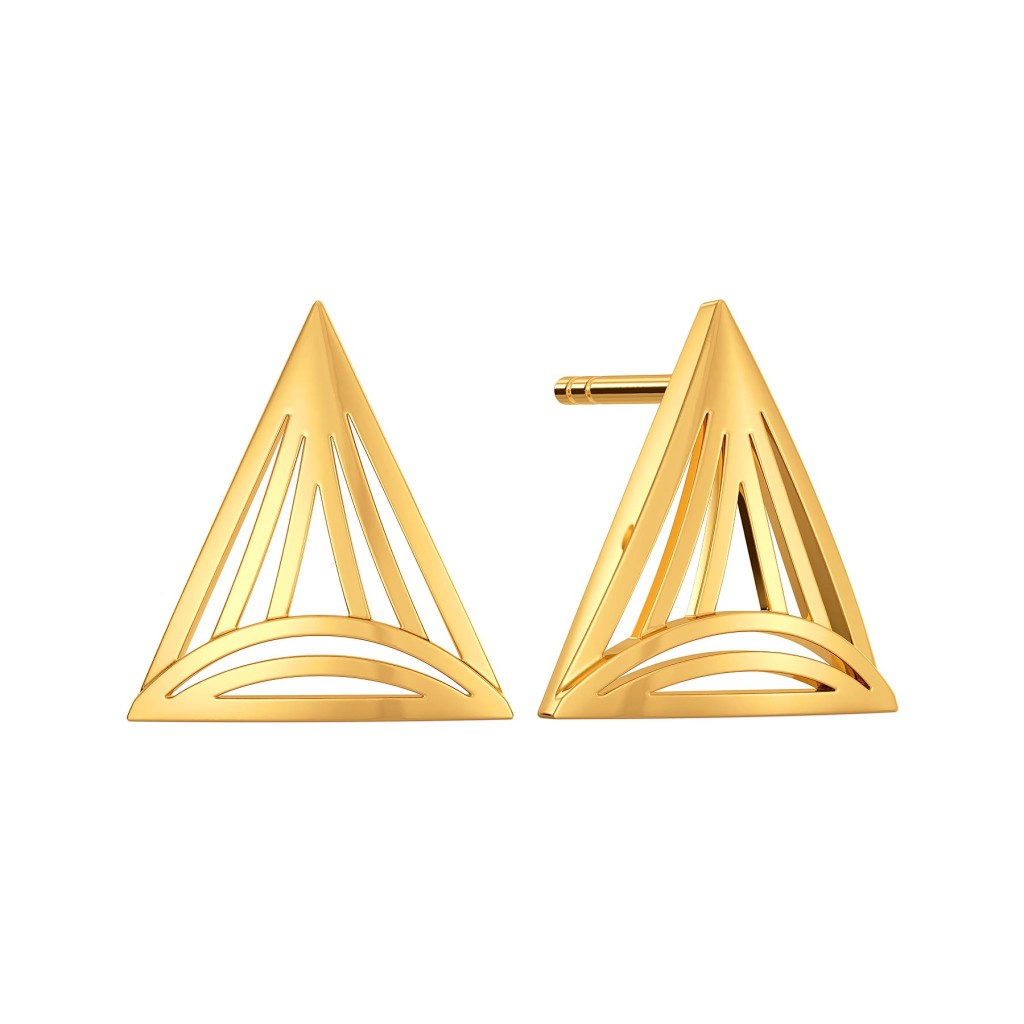 Quirky Picks Gold Earrings
