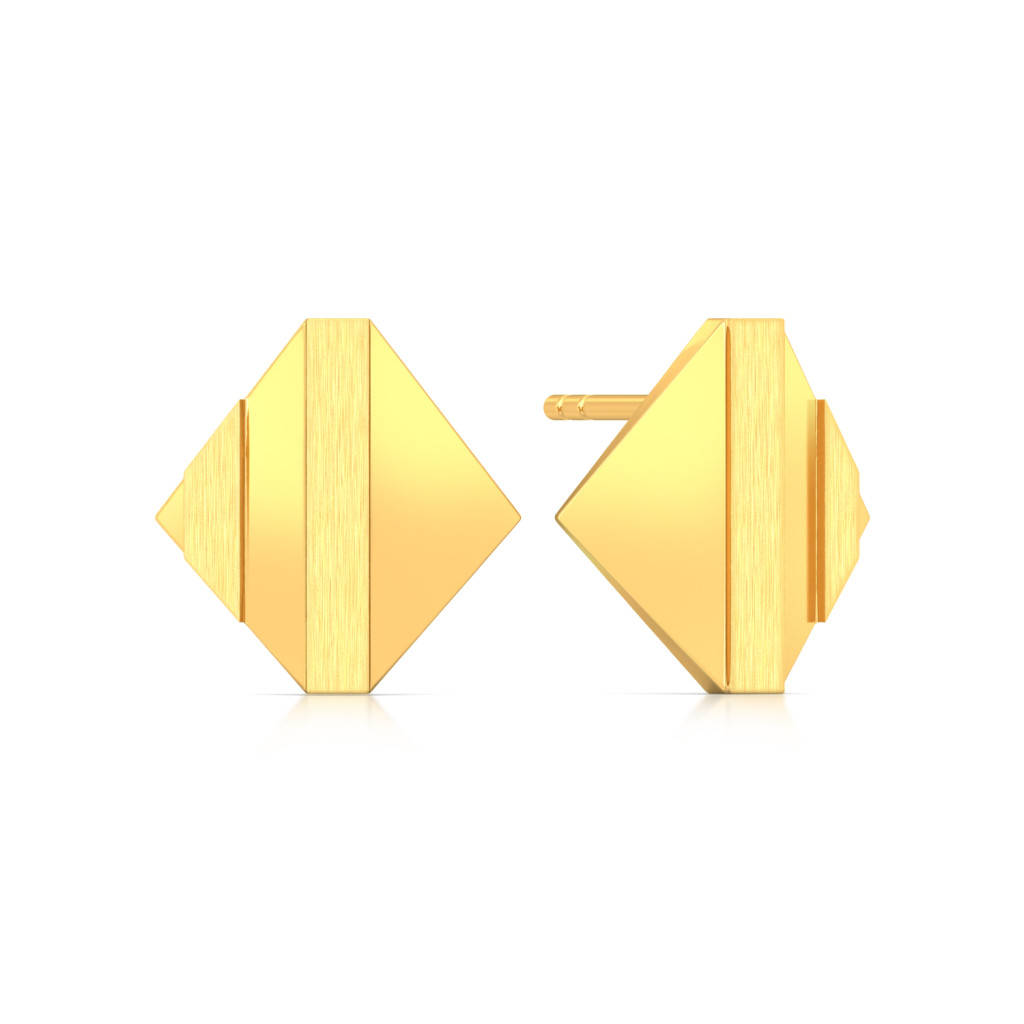 Shadow Play Gold Earrings