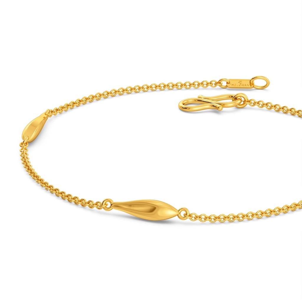 Falcate Facets Gold Bracelets