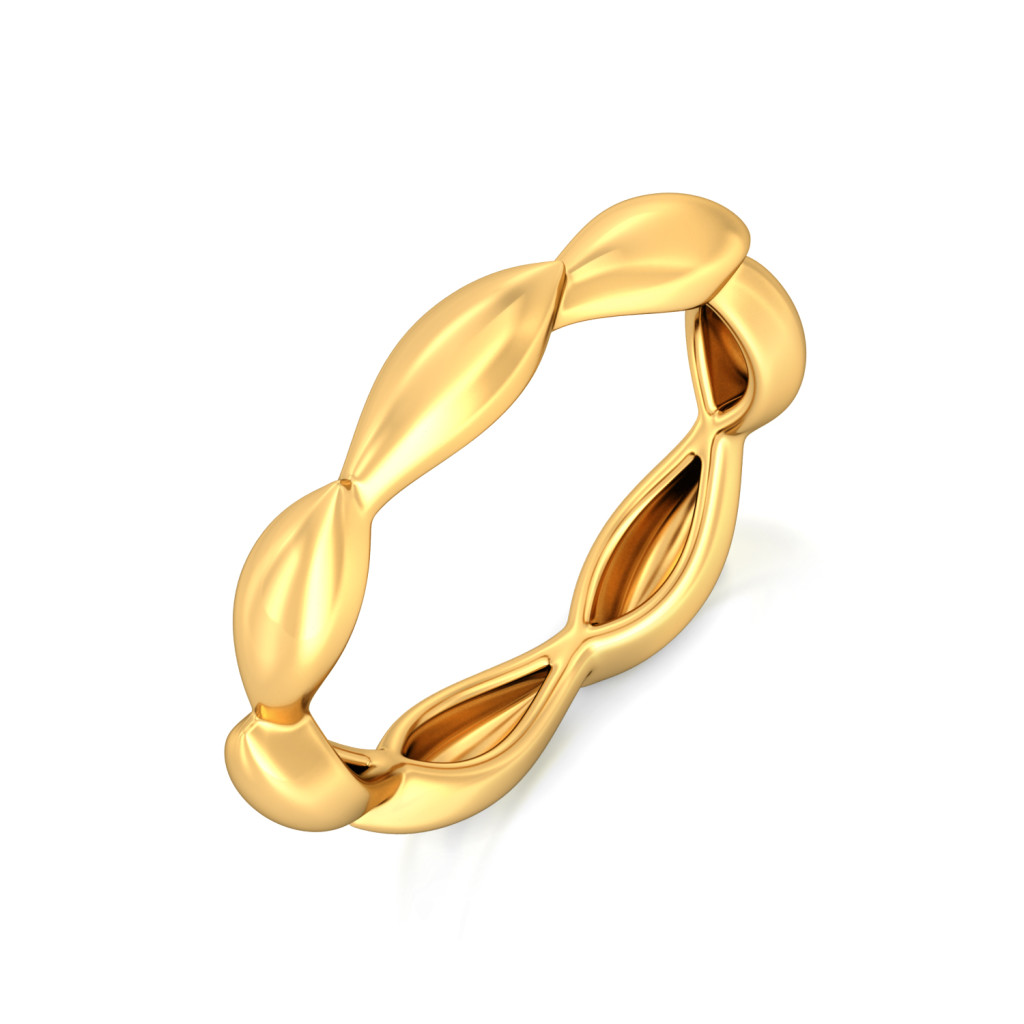 Falcate Facets Gold Rings